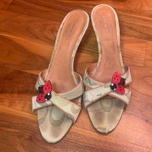 Coach Ciara Ladybug Womens Heels Strappy, USED